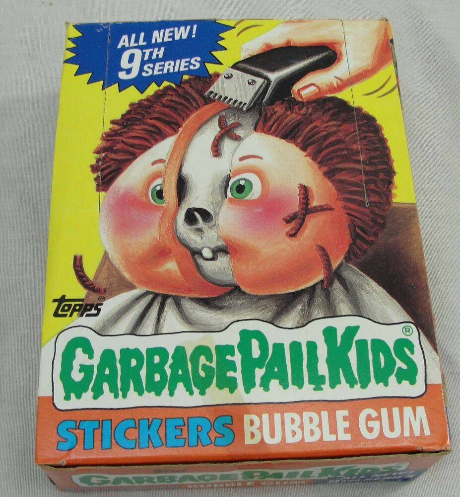 Vtg 1987 Topps Garbage Pail Kids Cards 9th Series Box Sealed 48 Wax Packs Gpk Garbage Pail Kids Cards Garbage Pail Kids Kids Cards