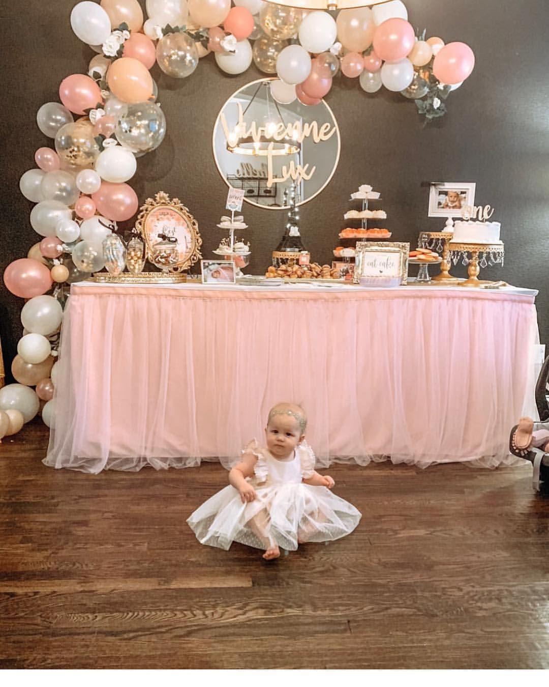 418 Likes 24 Comments Neena Joy Marie Clothing Joymarieclothing On Instag Girl Birthday Decorations Baptism Decorations Girl 1st Birthday Party For Girls