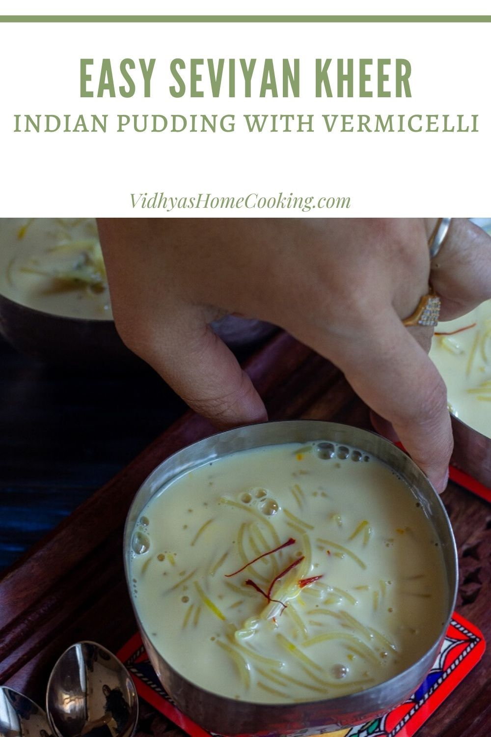 Semiya Payasam Semi Homemade Vermicelli Kheer With Evaporated And Condensed Milk In 2020 Amazing Vegetarian Recipes Vegetarian Recipes Easy Indian Pudding
