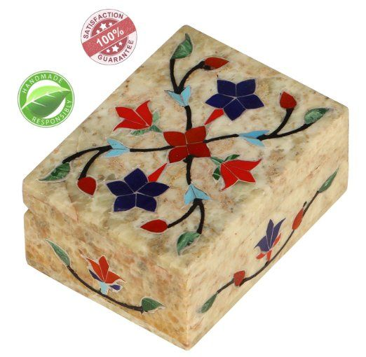 Stone Box SouvNear Marble Handmade Jewelry Box Decorative Pietra
