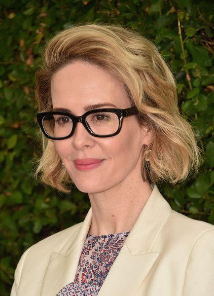 Sarah Paulson Short Wavy Cut - Short Hairstyles Lookbook ...