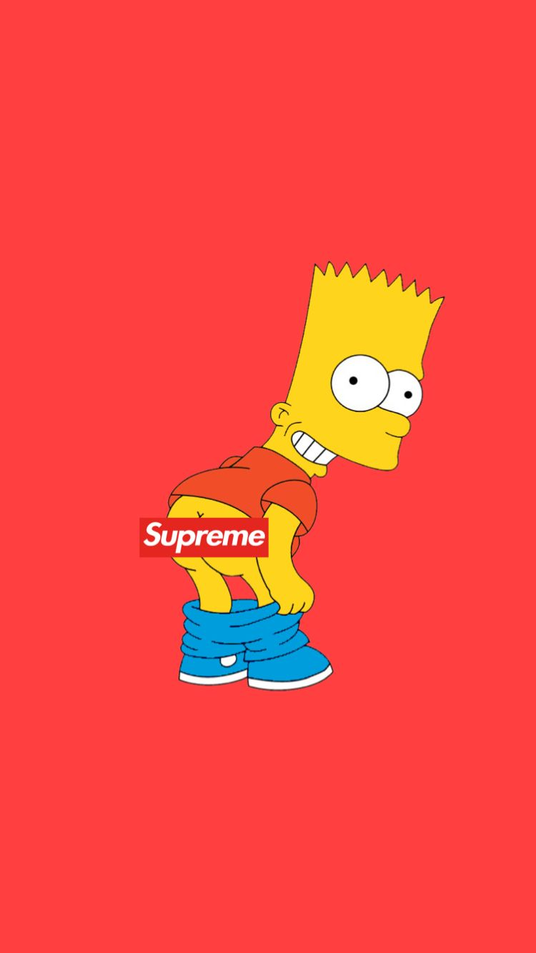 Sմթɾҽʍҽ Bartsimpson Phonewallpaper Supreme In 2019