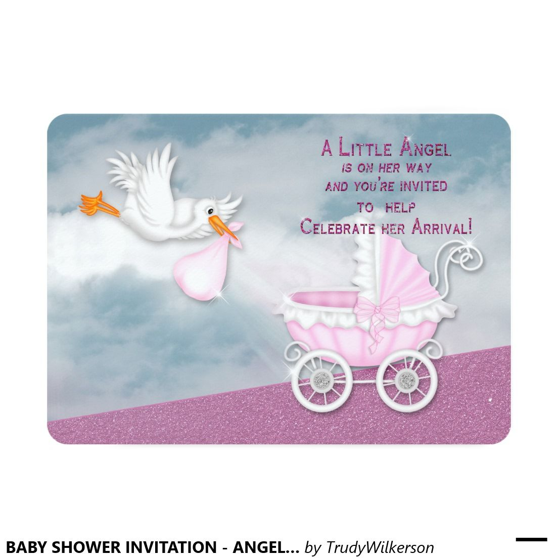BABY SHOWER INVITATION - ANGEL FROM HEAVEN | Paperie Baby ...