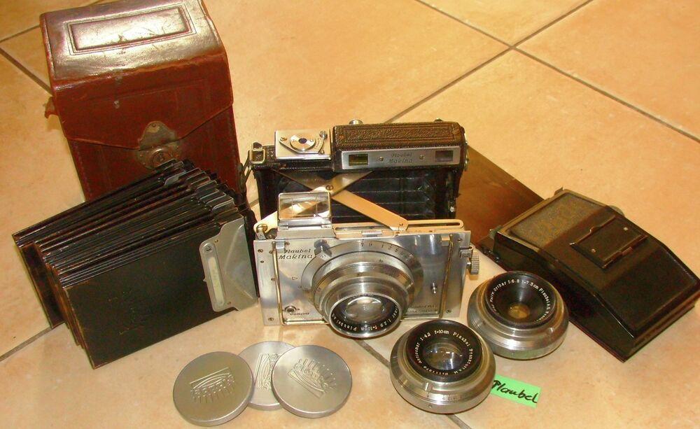 Ebay Sponsored Plaubel Makina Ii Kamera 3 Objektive 12 Platten