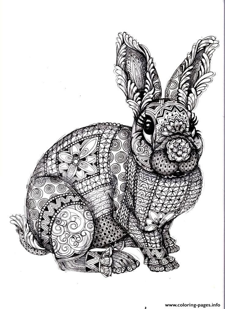 Print Adults Difficult Animals Coloring Pages Animal Coloring Pages Mandala Coloring Pages Mandala Coloring
