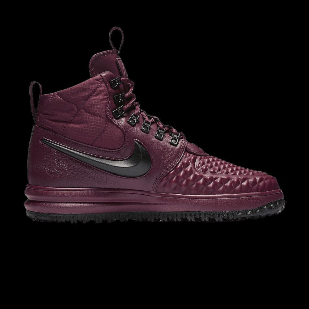 9108955b6e0c NIKE LUNAR FORCE 1 DUCKBOOT 17 HIGH BURGUNDY BLACK ALL WEATHER BOOTS 916682  13  Nike  AthleticSneakers