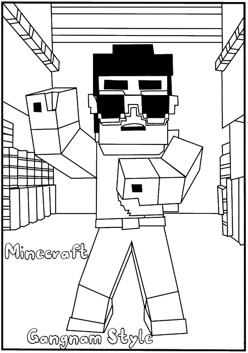 Minecraft Food Coloring Pages