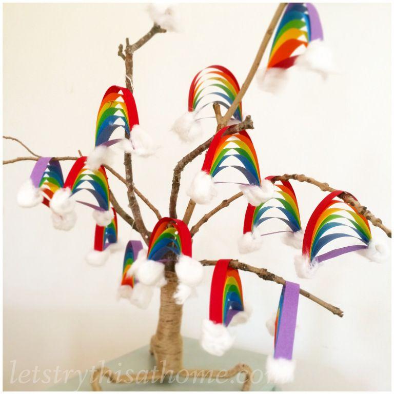 Paper Rainbow Craft Letstrythisathome Ideas I Love Rainbow