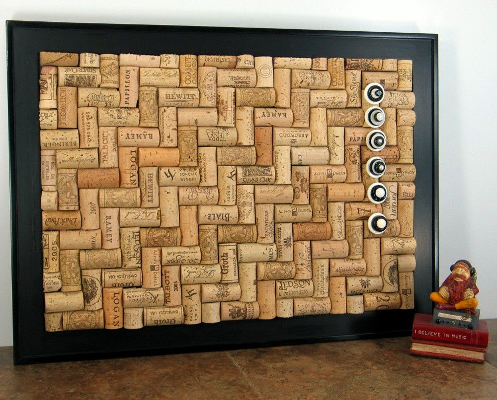 Crafts to do with wine corks - Craft Ideas Using Wine Corks Large Framed Wine Cork Bulletin Board W Push Pins 23x19