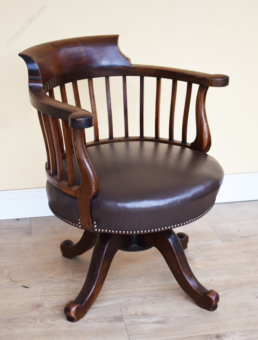 19th Century Victorian Mahogany Swivel Chair Antiques Atlas Chair Antique Desk Chair Swivel Chair Desk