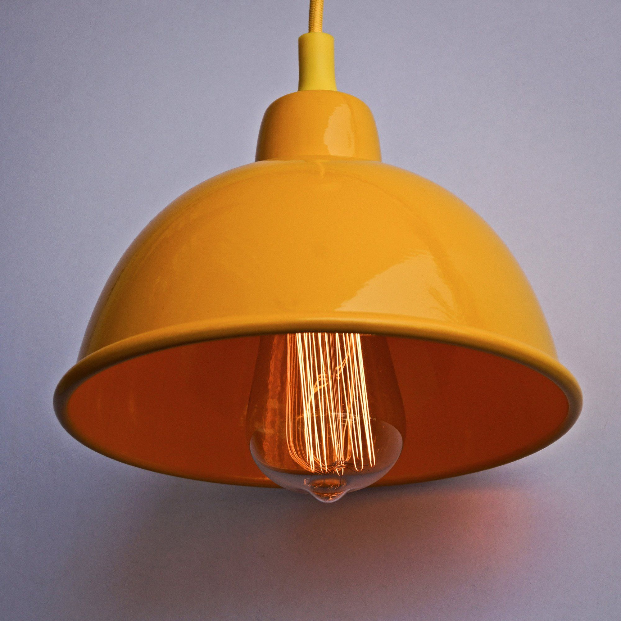 yellow pendant lighting. Sunshine Yellow 1917 Classic Pendant Lighting