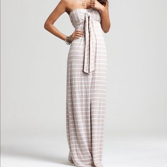 97af7f7453 Splendid striped Venice maxi dress L taupe beige EUC size large splendid  Venice maxi dress beige taupe and white striped Splendid Dresses Maxi