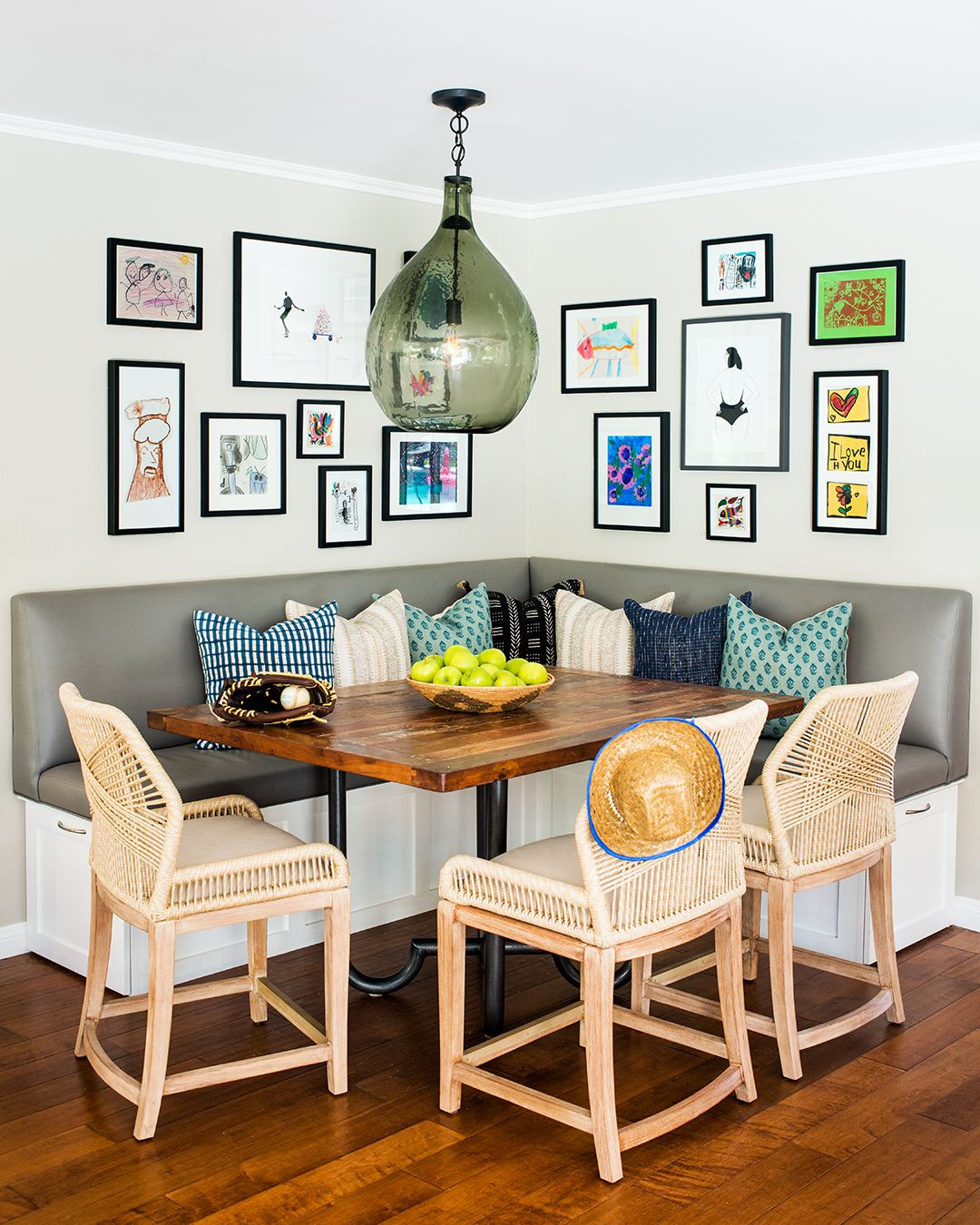 Kate Lester Interiors Kid Friendly Kitchen Nook Modern Dining Room Mid Century Modern Dining Room Home Decor