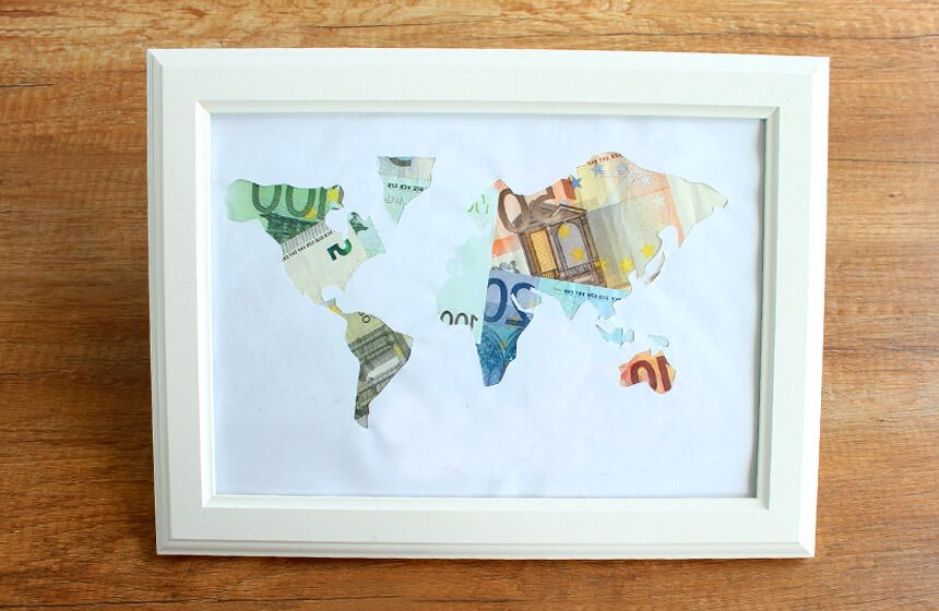 Geldgeschenke Weltkarte Ideenkiste Pinterest