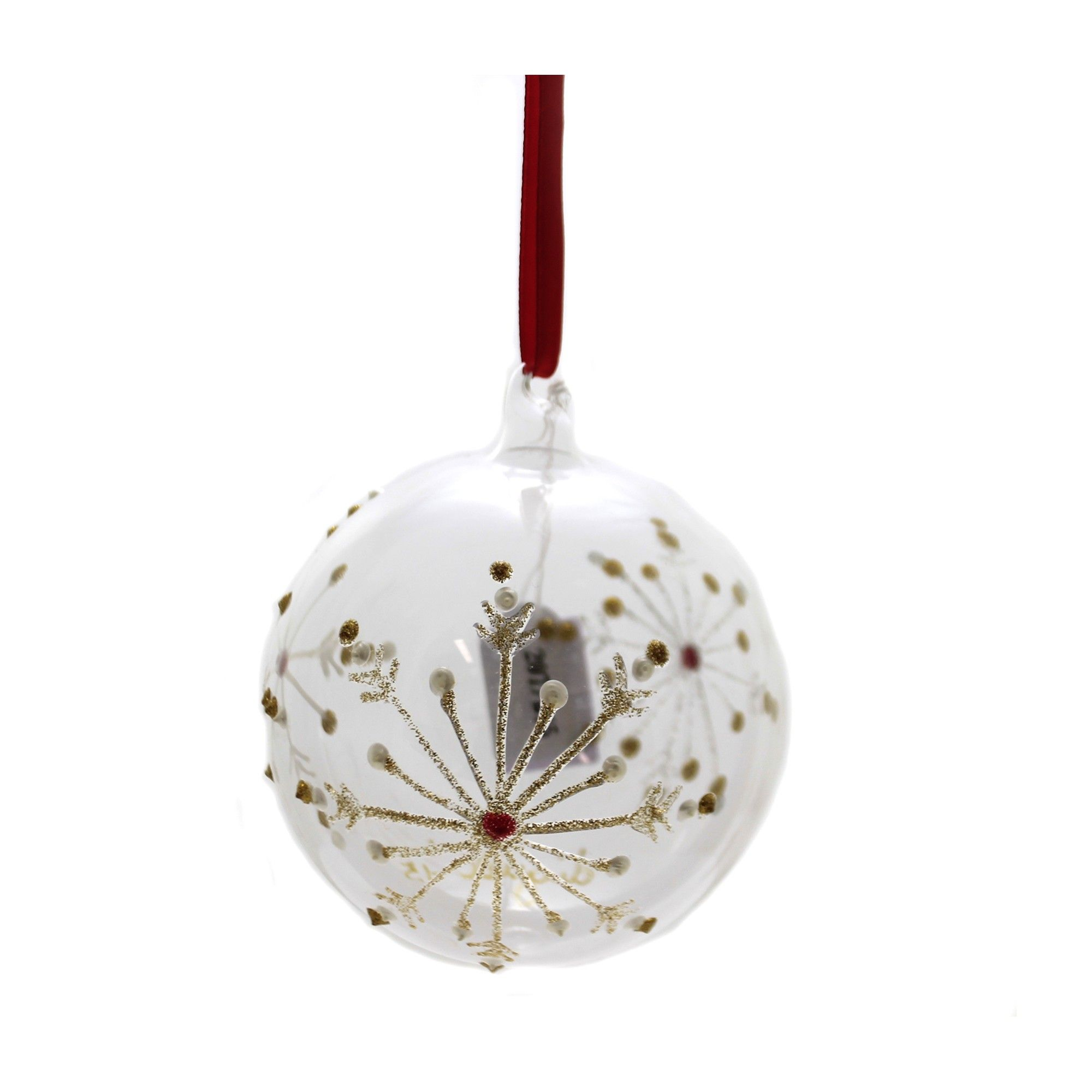 Holiday Ornaments 4 0 Snowflakes Italian Tree Ornaments In 2020 Hand Painted Bauble Ornaments How To Make Ornaments
