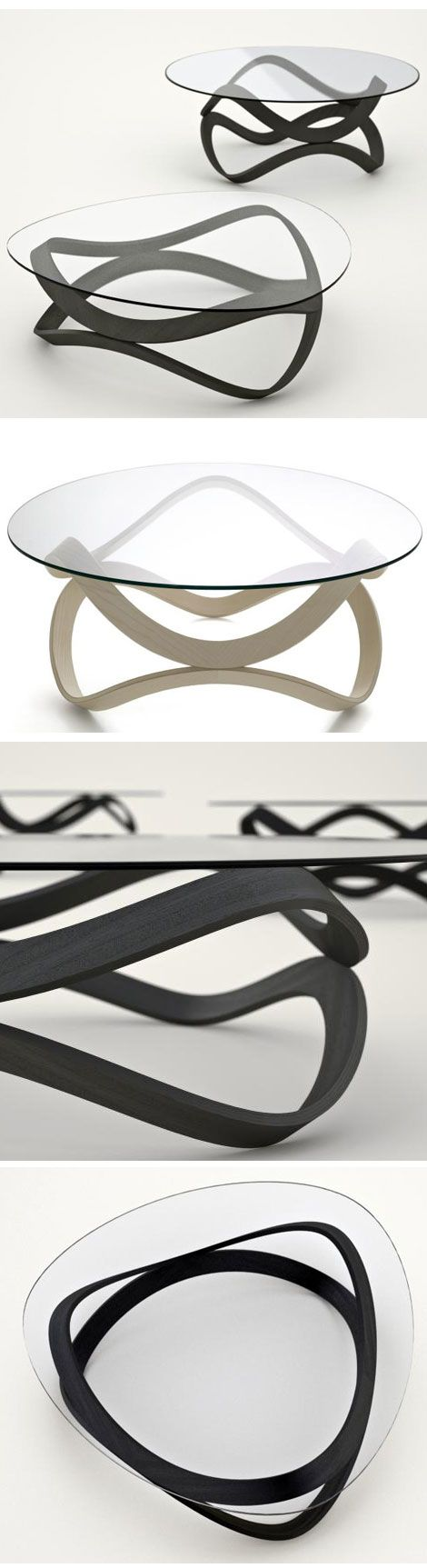 Newton Coffee Table by Dan Sunaga and Staffan Holm: Made of bent ...