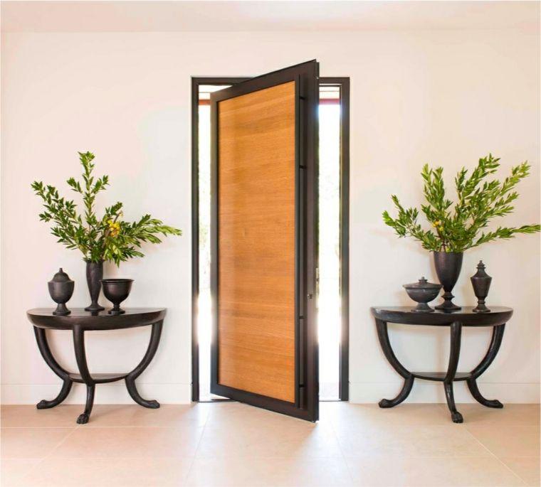 Puertas de entrada de diseño moderno - 49 modelos - | Marco de acero ...