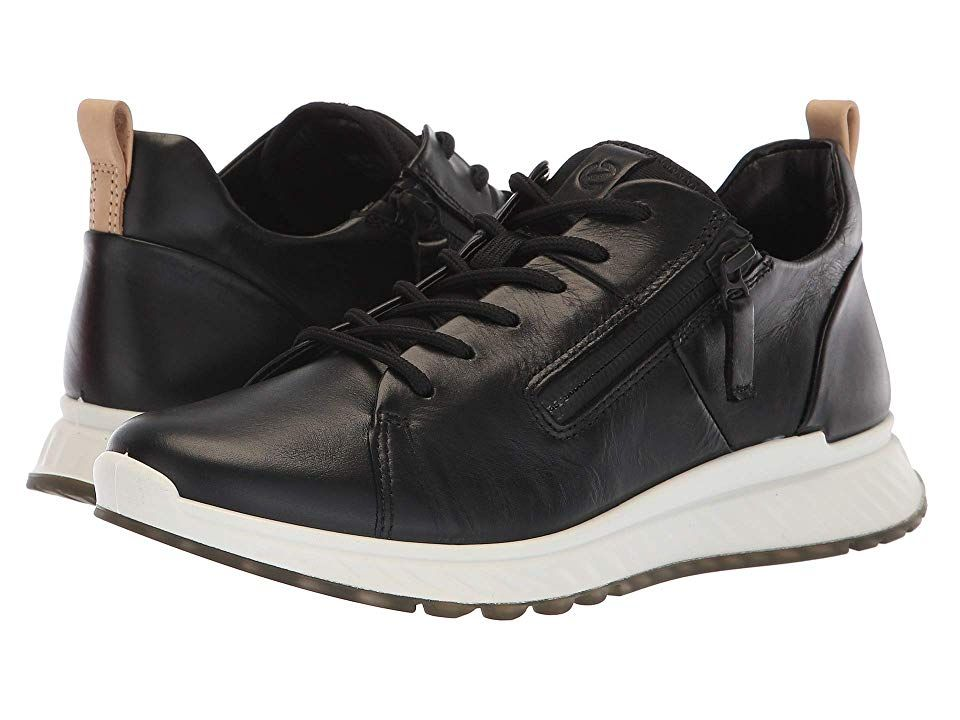 ECCO ST1 Sneaker (Black Calf Leather