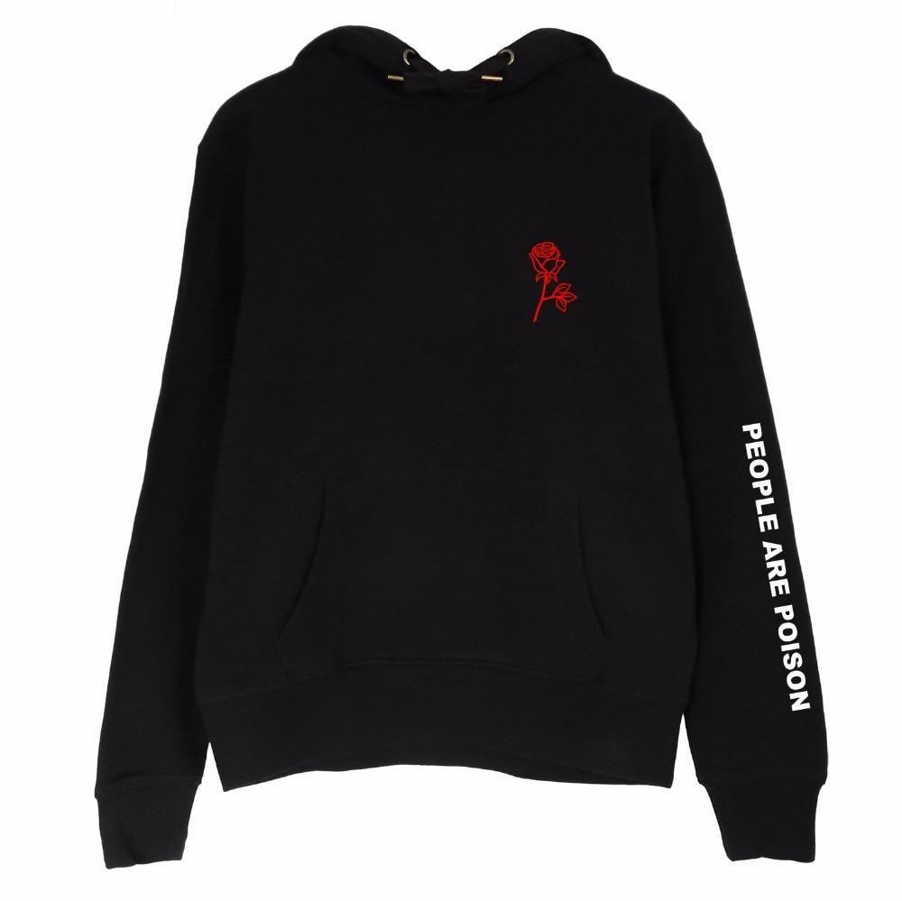 rose poison hoodie | Sudadera con capucha para mujer