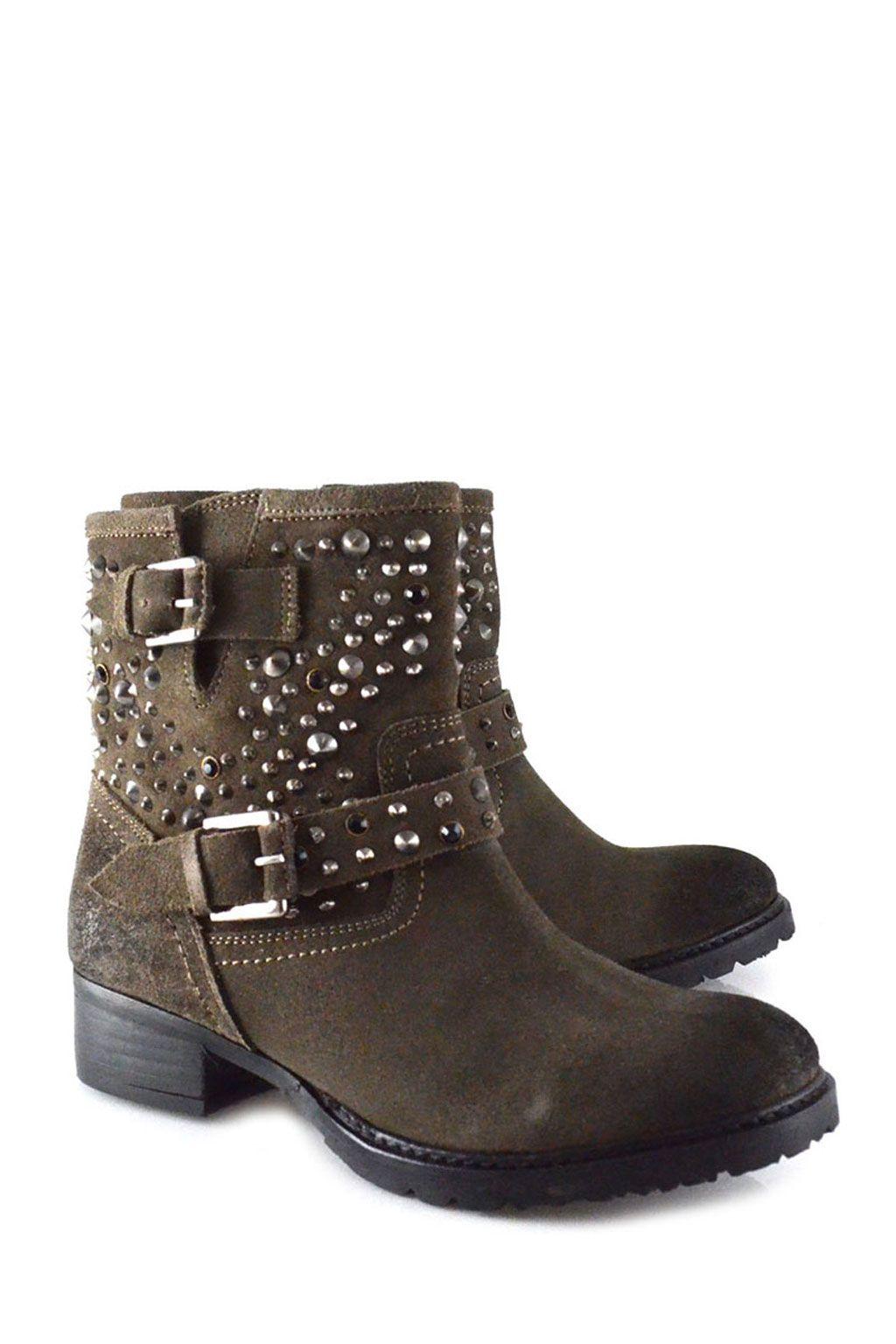 online retailer 4c43e ffba7 Lola Cruz brown biker boots >> shop online at www ...