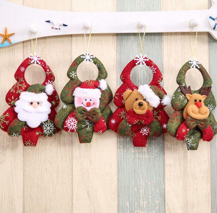 Christmas Tree Decor Santa Claus Plush Doll Hanging Home Xmas Festival Ornaments
