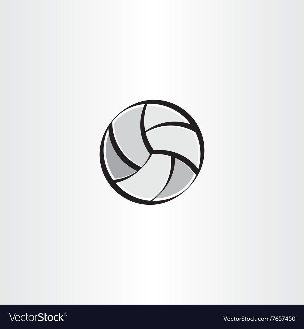 Stylised Volleyball Icon Royalty Free Vector Image Sponsored Icon Volleyball Stylised Royalty A Business Icons Vector Vector Free Geometric Symbols