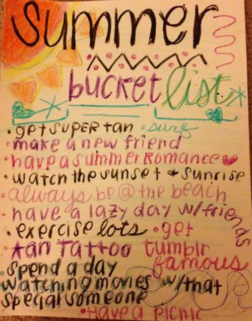 Summer Bucket List Tumblr Summer Bucket Lists Bucket List