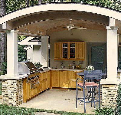 Covered Outdoor Kitchens Covered Outdoor Kitchen Truly Takes Indoor Convenience Into The