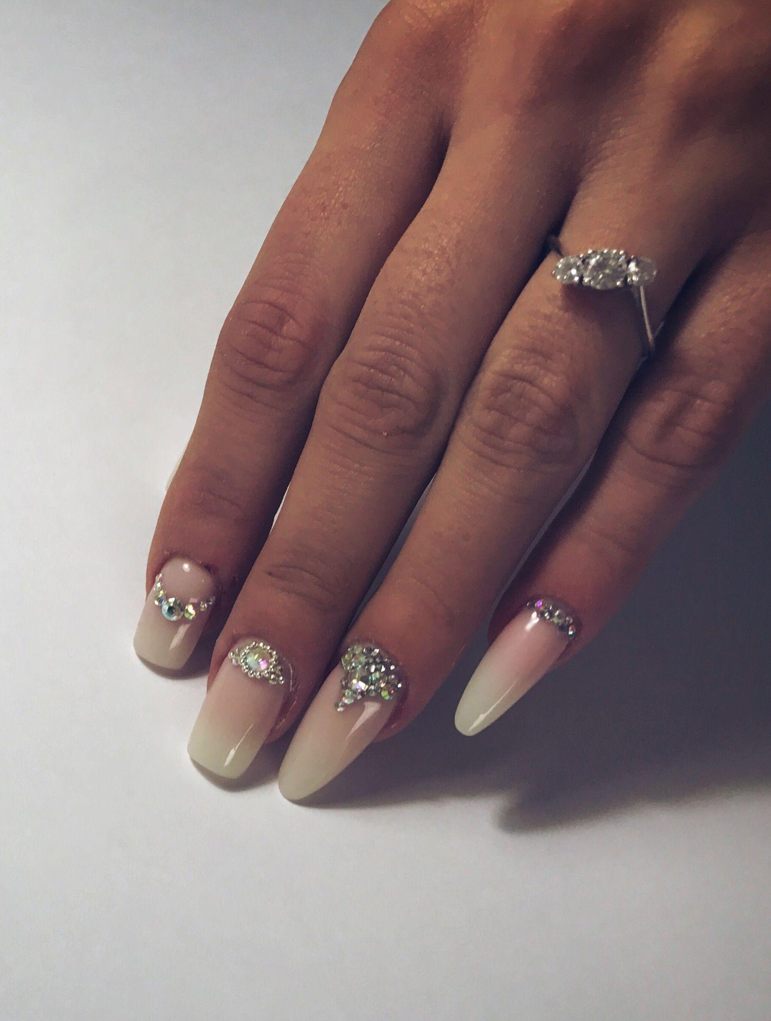 Baby #Boomer #Nails #Swarovski   Nails   Pinterest