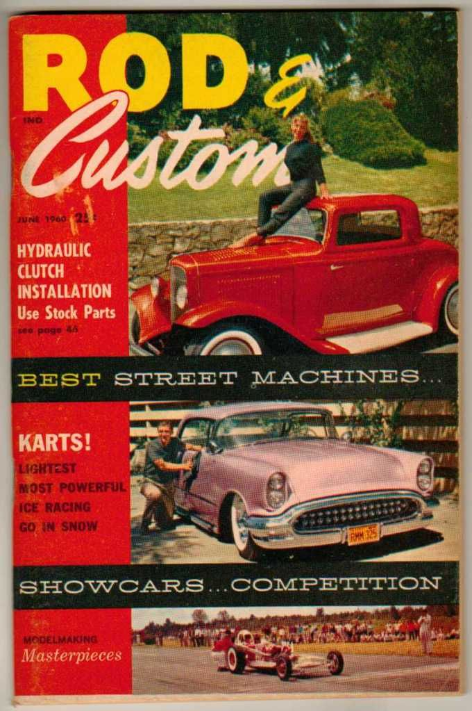 Rod Custom June Old Hot Vintage Classic Car Magazine Deuce
