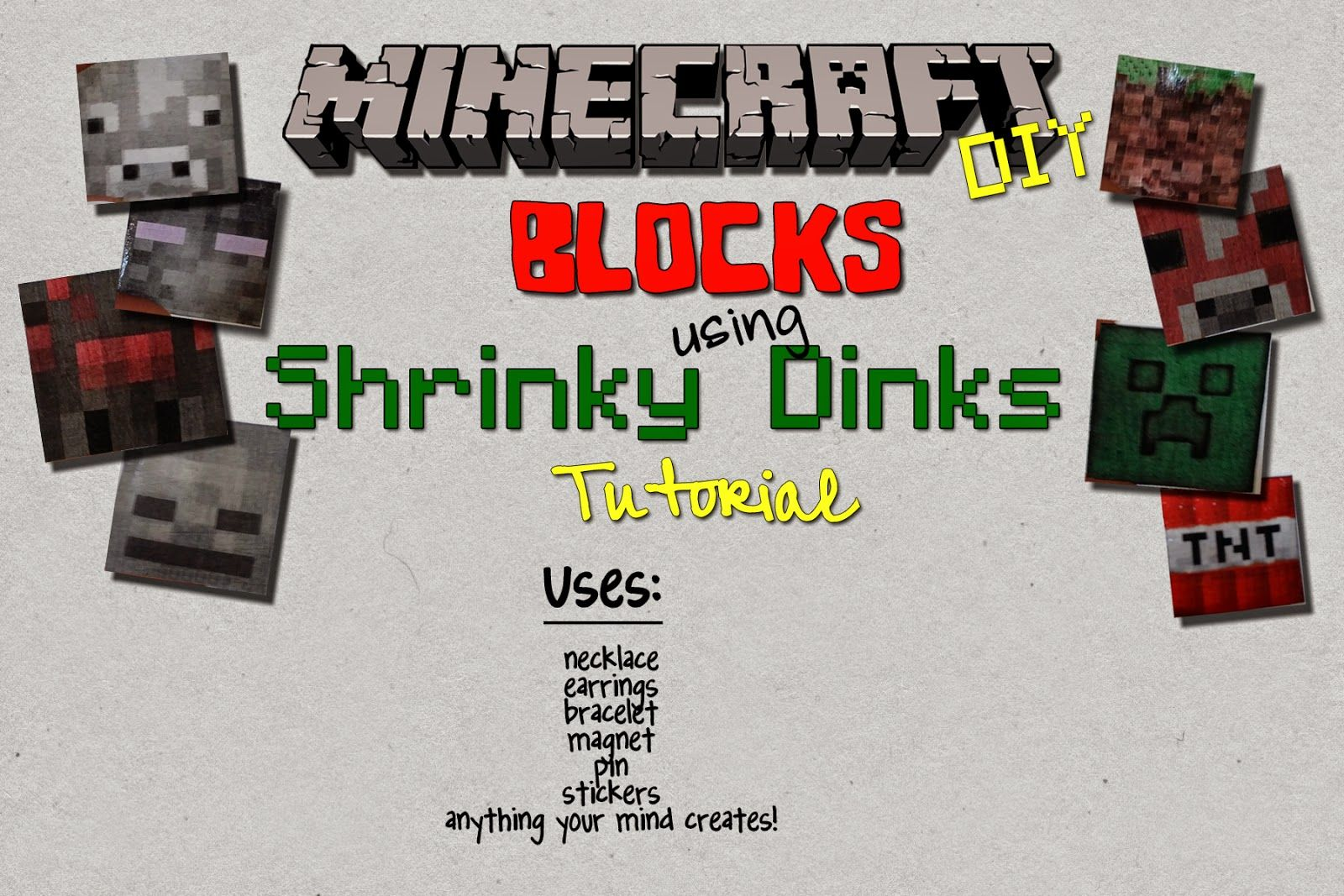 Minecraft Craft Ideas For Kids Part - 49: Minecraft Craft And Printable On Making Shrinky Dinks. Kids Will Love It.