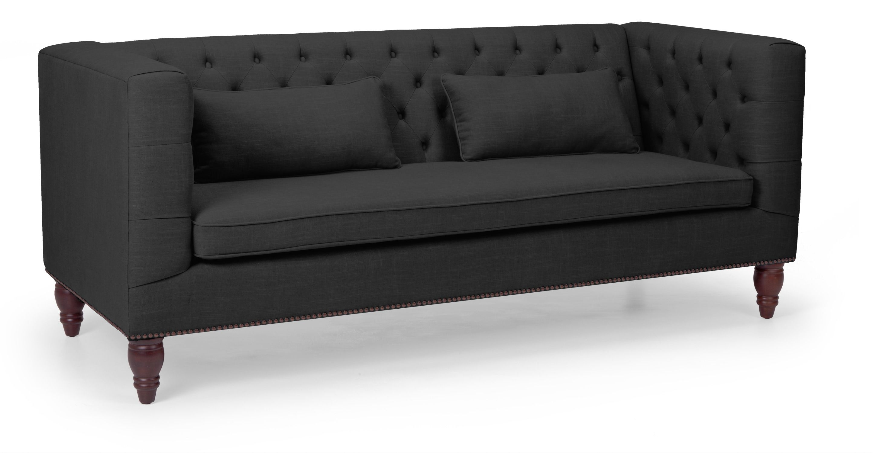 Sofas And Stuff Fentbury Flynn 3 Seater Sofa In Midnight Black Made My Dream House