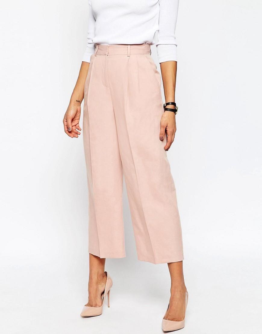 ASOS | ASOS Premium Linen Suit Culottes at ASOS | Fashion ...