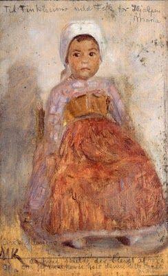 """Portrait of a small italien girl"" 1890  Marie Krøyer (1867 - 1940)"