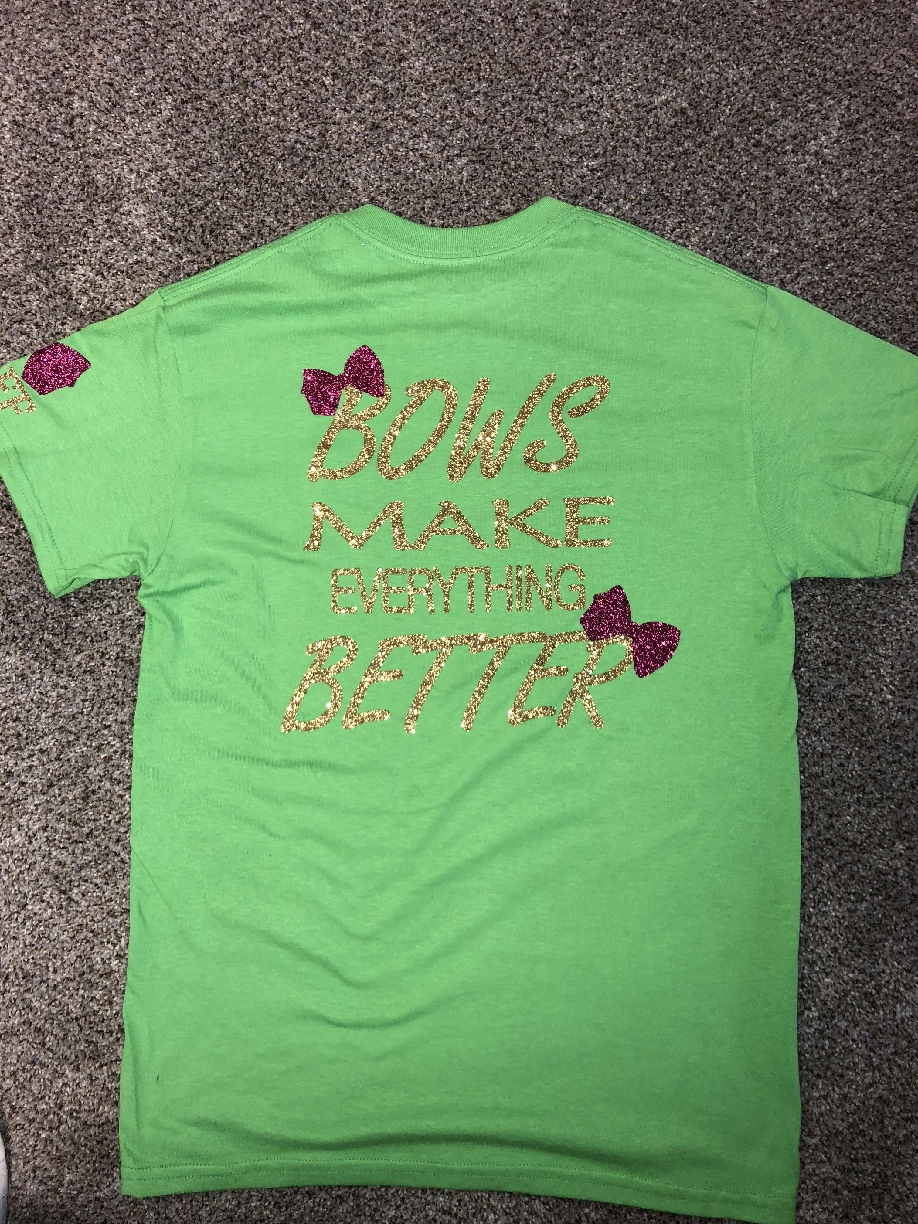 Back Of Staff Shirts With Jojo Siwa Sayings For Birthday Party