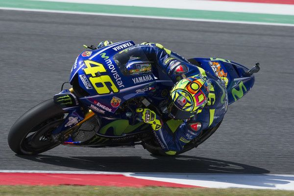 c1d149f729 Valentino Rossi of Italy and Movistar Yamaha MotoGP rounds the bend during  the MotoGp of Italy - Free Practice at Mugello Circuit on June 2
