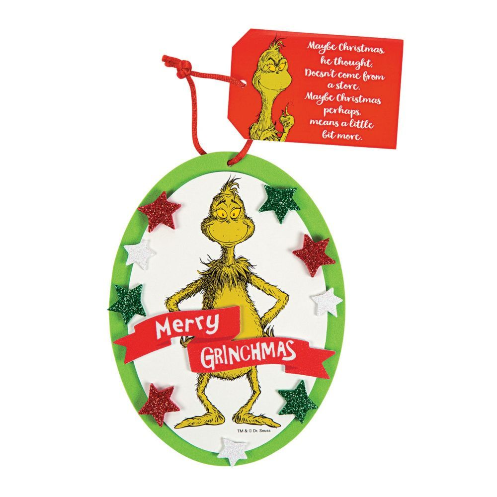 Dr Seuss The Grinch Ornament Craft Kit Grinch Ornaments Grinch Crafts Christmas Projects Diy