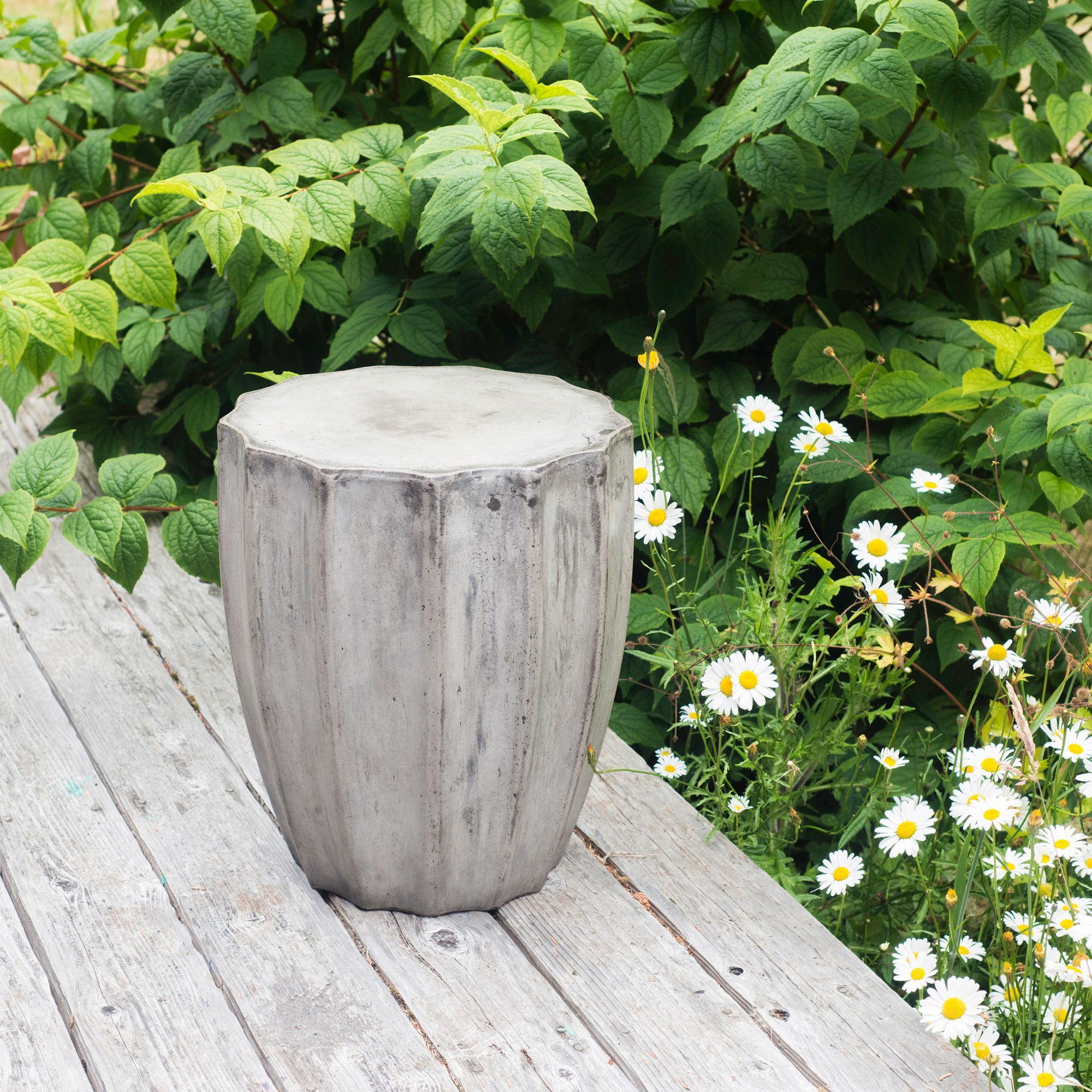 Stone And Natural Fiber Cements Make This Beautiful Side Table Simple And  Practical. The Jagged
