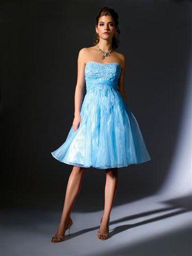 light blue short prom dress | Wedding In California | Pinterest ...