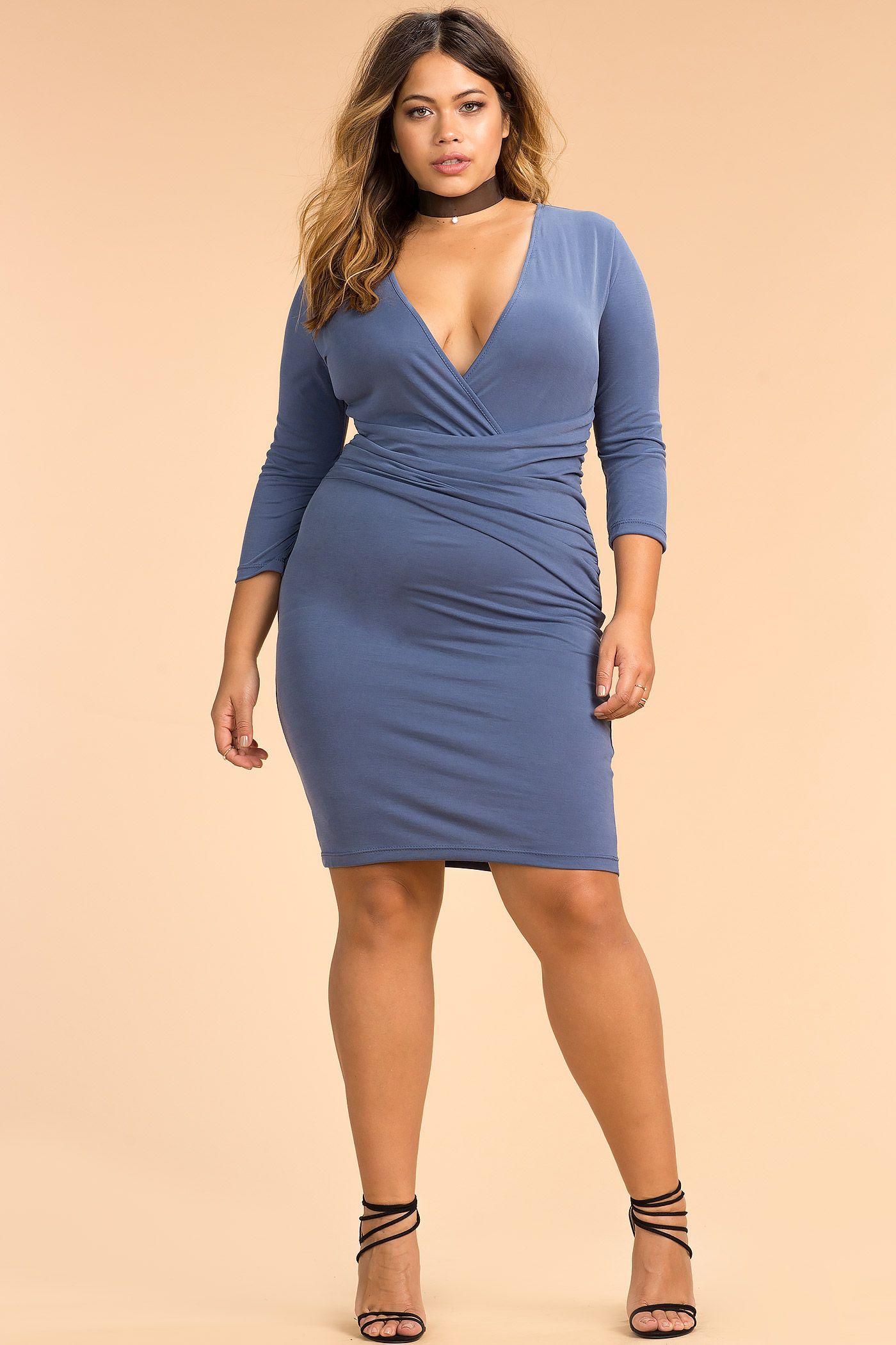 Plus size sexy bodycon dress plus size plussizefashion dress