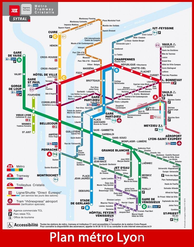TCL Lyon's Métro, Funiculars, Trams, Trolleys and Buses   Lyon à