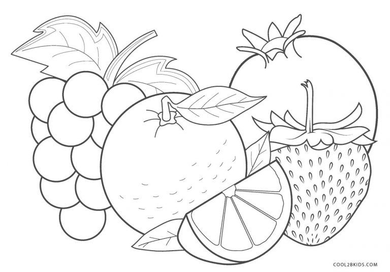 Free Printable Fruit Coloring Pages For Kids Cool2bkids Fruit Coloring Pages Vegetable Coloring Pages Flower Coloring Pages