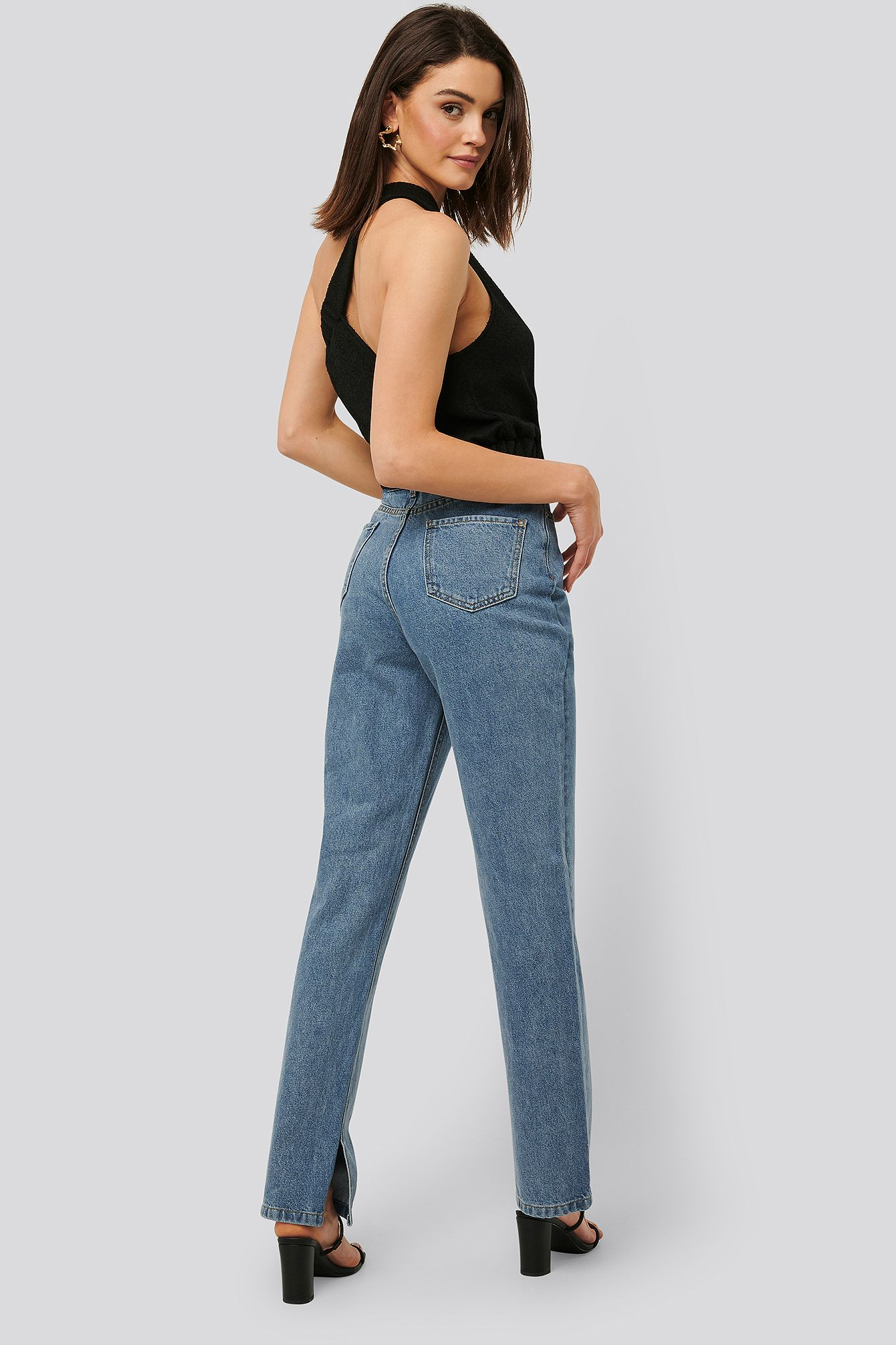 Photo of Gerade Jeans Mit Hoher Taille