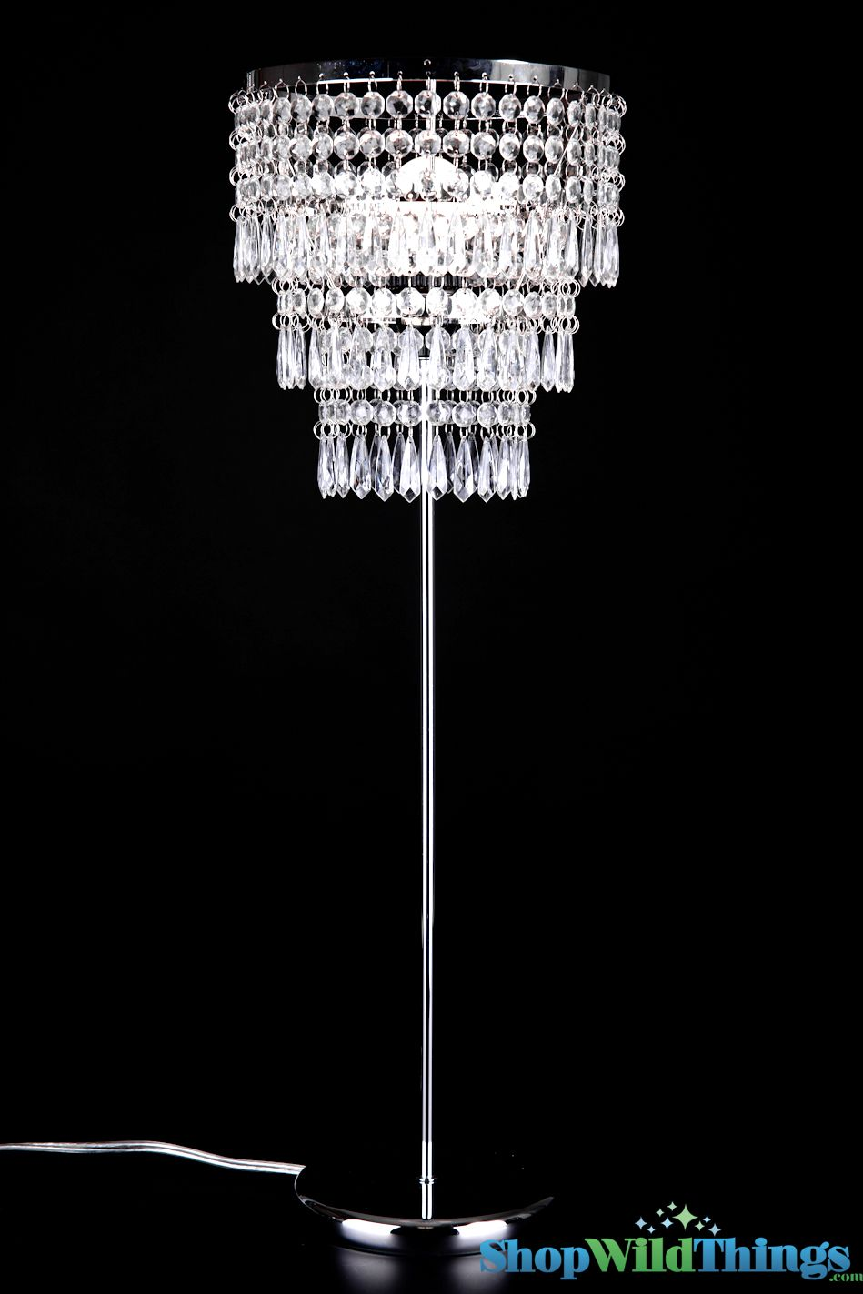 Made In Three Tiers Our Romantic Crystal Beaded Table Lamp Has