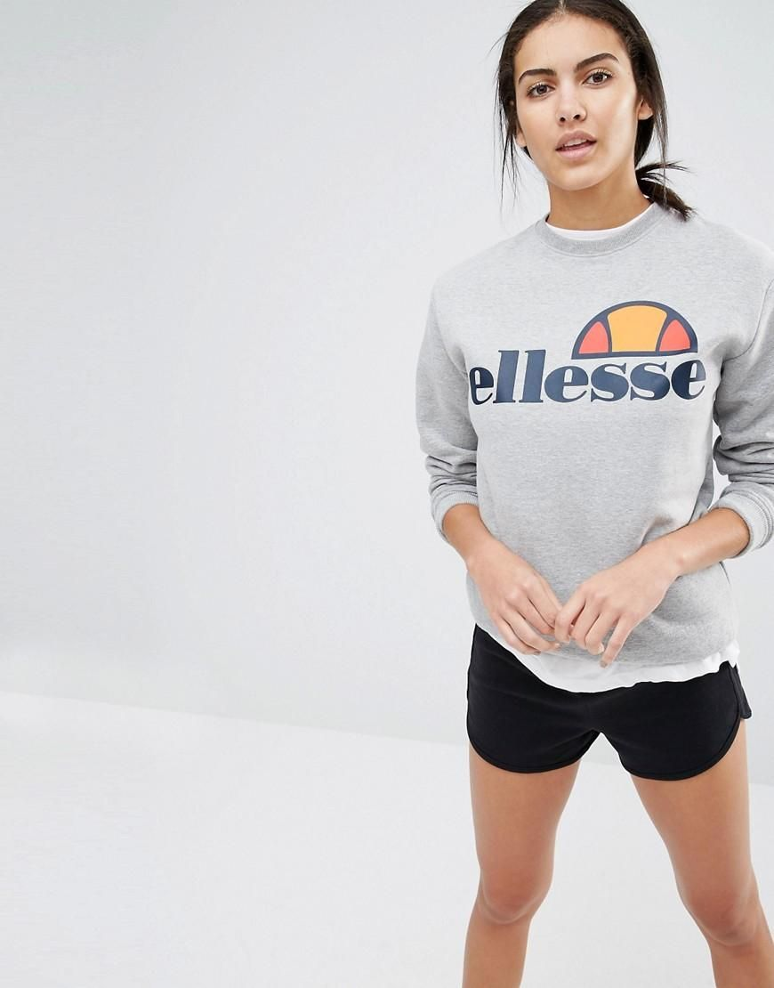 Italia - Oversize-Sweatshirt mit halbem Reißverschluss und Italia-Logo - Blau Ellesse