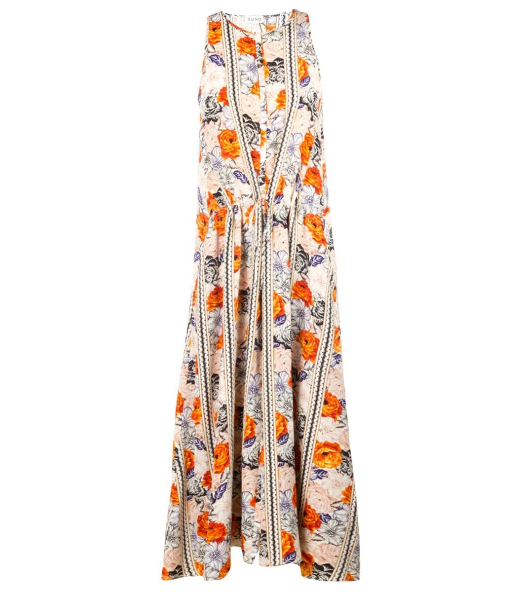 Suno floral racerback dress easy style pinterest floral