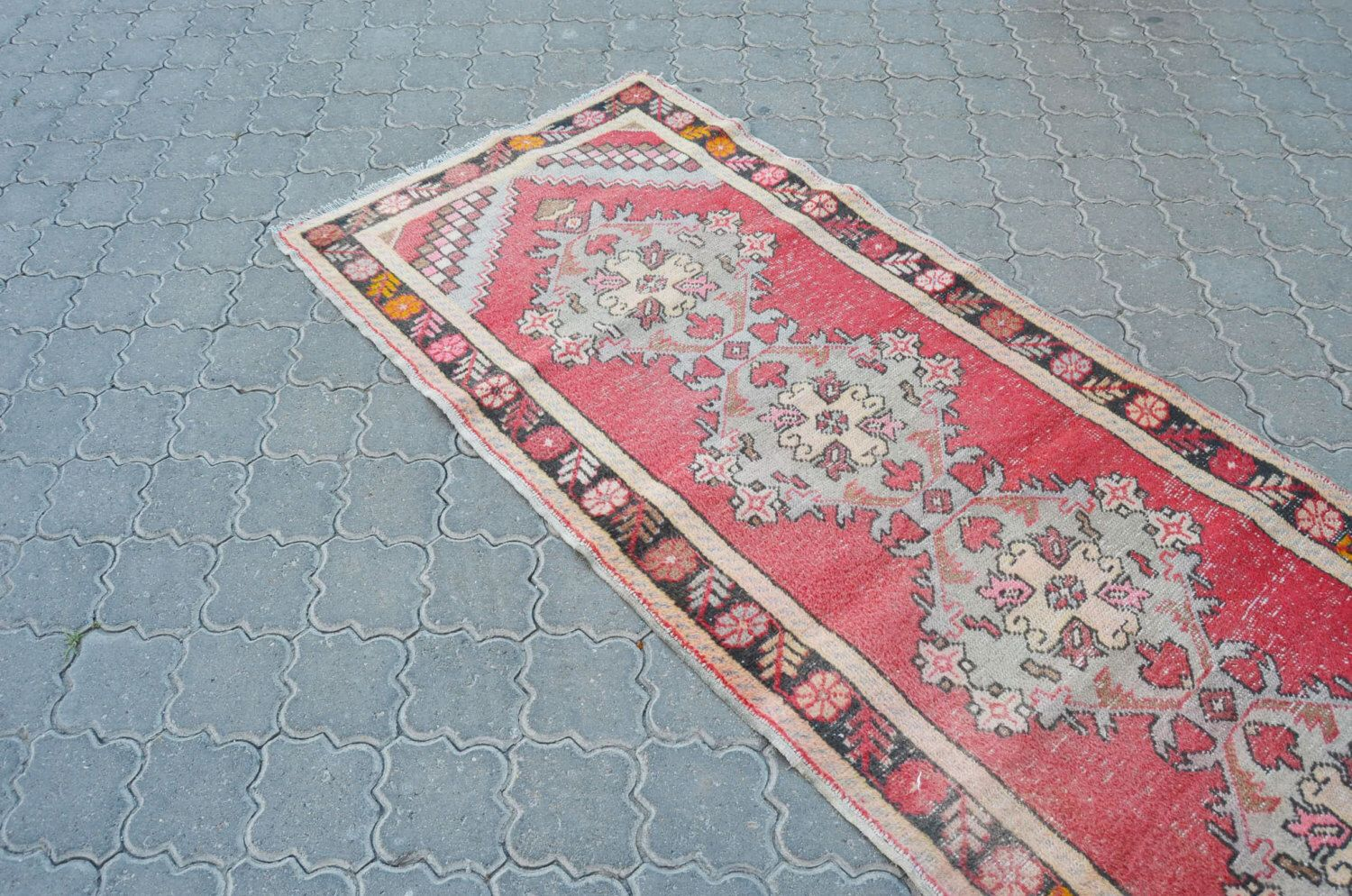 Hallway carpet runners sold by the foot  vintage runner kilim xcm or x feet runner shaby style