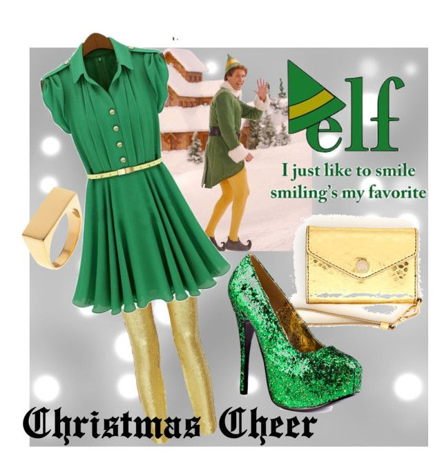 """""""Buddy the Elf"""" by crmadden ❤ liked on Polyvore featuring Alexander McQueen, MICHAEL Michael Kors and Viva Bordello"""