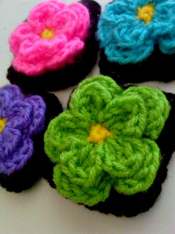 A Little Loopy But Im Hooked Cute Little Flower Square Free