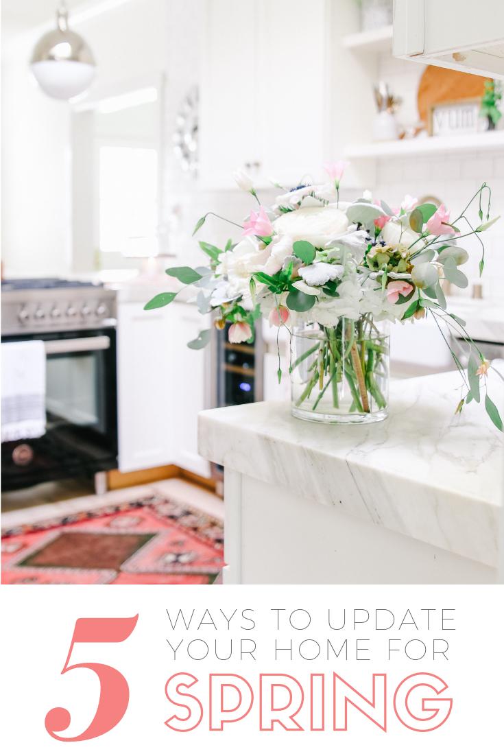 5 Simple Spring Decorating Ideas Updates Modern Glam Interiors Spring Home Decor Classic Home Decor Decor